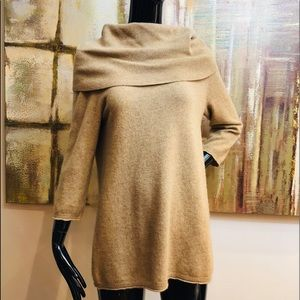 Cynthia Rowley 100% Cashmere Wide Neck Sweater